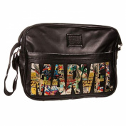 Official Black Marvel Comic M Logo Messenger Style Shoulder School Uni Bag