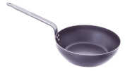 De Buyer 5314.28 Force Blue Blue Steel Round Country Frying Pan, 2 mm Thick, 28 cm Diameter