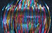 100cm Hair Tinsel 100 Strands - Rainbow