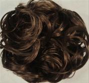 KATIE 18cm Pony Fastener Hair Scrunchie by Mona Lisa 8 Chestnut Brown
