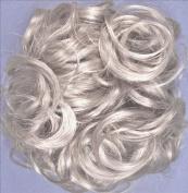 KATIE 18cm Pony Fastener Hair Scrunchie 56 Grey with 10% Brown