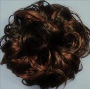 KATIE 18cm Pony Fastener Hair Scrunchie 4-30 Dark Brown-Auburn