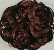 KATIE 18cm Pony Fastener Hair Scrunchie by Mona Lisa 33 Dark Auburn
