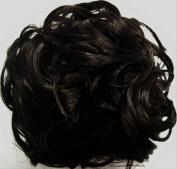 KATIE 18cm Pony Fastener Hair Scrunchie by Mona Lisa 2-Darkest Brown