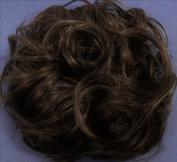KATIE 18cm Pony Fastener Hair Scrunchie 36 Brown with 10% Grey
