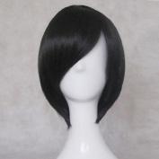 Kuroko's Basketball Himuro Tatsuya Black Short Cosplay Wig + Free Wig Cap
