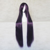 Baka to Tesuto to Shokanju Kirishima Shouko Deep Purple Black 100CM Long Cosplay Costume Wig + Free Wig Cap
