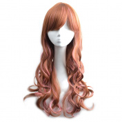 WELLKAGE New Two Tone Long Wavy Highlight Hair Wig Multi-colour Lolita Wigs