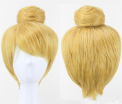 Anogol® Free Hair Cap+ Women's Prestyled Buns Party Movie Anime Cosplay Wigs Costume Bell Wig Short Blonde DM-391
