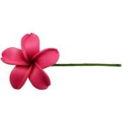 Fimo Flower Flexible Hair Pick Plumeria Pink