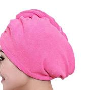 Hair Towel Twist Hair Drying Towel Pink