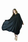 XMW Professional Water Repellent Durable Hair Salon Polyester Cape Black