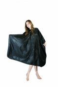 XMW Professional Water Repellent Printing Pattern Hair Salon Polyester Barber Cape Black02