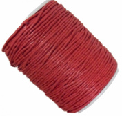 Rockin Beads Brand Orange Red 1.5mm Waxed Cotton Jewellery Macrame Craft Cord 80 Yards Wolven Round