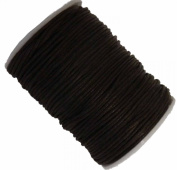 Rockin Beads Brand Brown 1.5mm Waxed Cotton Jewellery Macrame Craft Cord 80 Yards Wolven Round