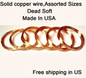 Assorted Sizes Dead Soft Copper Wire 18,20,22,24,26,28 Ga / 3m Each- Craft - Hobby - Jewellery Making - Wire Wrapping