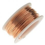 Artistic Wire, Bare Phosphor Bronze Craft Wire 18 Gauge, 4 Yard Spool