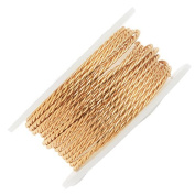 Artistic Wire Twisted Wire, 18 Gauge Thick, 2 Yard Spool, Tarnish Resistant Brass