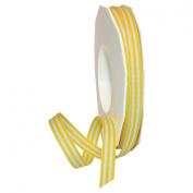 Morex Ribbon Grosgrain Stripes Ribbon, 1cm by 20 yd., Yellow