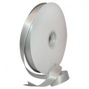 Morex Ribbon Double Face Satin Polyester Ribbon, 1.6cm by 100 yd., Shell Grey