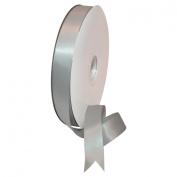 Morex Ribbon Double Face Satin Polyester Ribbon, 2.2cm by 100 yd., Shell Grey