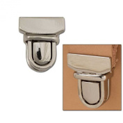 """Tuck Lock Clasp Small 3/4"""" X 7/8"""" (19 X 22 Mm) 11399-01 By Tandy Leather"""
