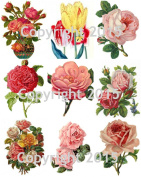 Victorian Flowers Collage Sheet 103