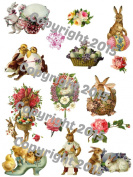Victorian Easter 101 Collage Sheet