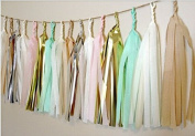 24 X Design Tissue Paper Tassels for Party Wedding Gold Garland Bunting Pom Pom