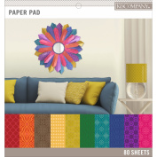 Basics 30cm x 30cm Paper Pad 80/Pkg-Darks, 20 Designs/4 Each