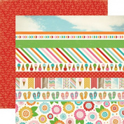 Carta Bella Soak Up The Sun Border Strip Summer Scrapbook Paper