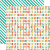 Carta Bella Soak Up The Sun Popsicles Summer Scrapbook Paper