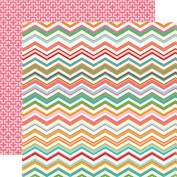 Carta Bella Soak Up The Sun Chevron Summer Scrapbook Paper