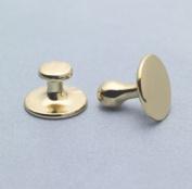 Collor Buttons #2 Long Shank Brass - Christian Brands Church Supply