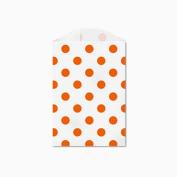25 Orange Polka Dot Little Bitty Bags 7cm X 10cm