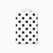 25 Black Polka Dot Little Bitty Bags 7cm X 10cm