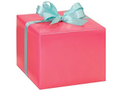 Coral Pink Gloss Gift Wrap Roll 60cm X 4.9m