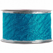 JAM Paper® - Blue Wave Holiday Ribbon - 5.1cm Wide and 3 Yards Long