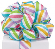 #9 Bright Stripe Spring Wired Ribbon