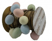 KD Vintage Glitter Eggs Wire Ribbon