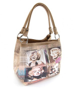 Marilyn Monroe Medium Purse, Black, MM2123BK