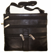 Women's Cross Body Bag 20cm X 18cm Black By Ag Wallets