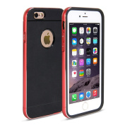 iPhone 6 Case, GMYLE Hybrid Case Bumper for iPhone 6 (12cm Display) - Metallic Red Colour & Black TPU Protective Hard Shell Back Case
