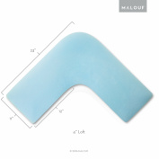 Z Boomerang L-Shaped Gel Memory Foam Pillow for Side Sleeping Comfort