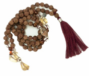 Aura Colours Rudraksha Mala, 108 Beads 7mm