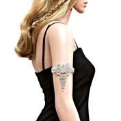 Intricate Fringe Arm Cuff/ Bracelet/ Anklet / AZABRH005-SCL