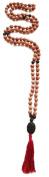 Meditation Rudraksha Malas with Stones, 108 Beads 7mm