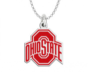 Ohio State Buckeyes Two Tone Logo Charm - White and Red