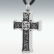 Perfect Memorials Intertwined Cross Stainless Steel Cremation Jewellery