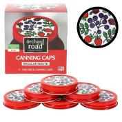 Ball Jar Lids - Decorative Canning Caps Fit Regular Mouth Mason Jars - Fruit Design - Pack of 6
